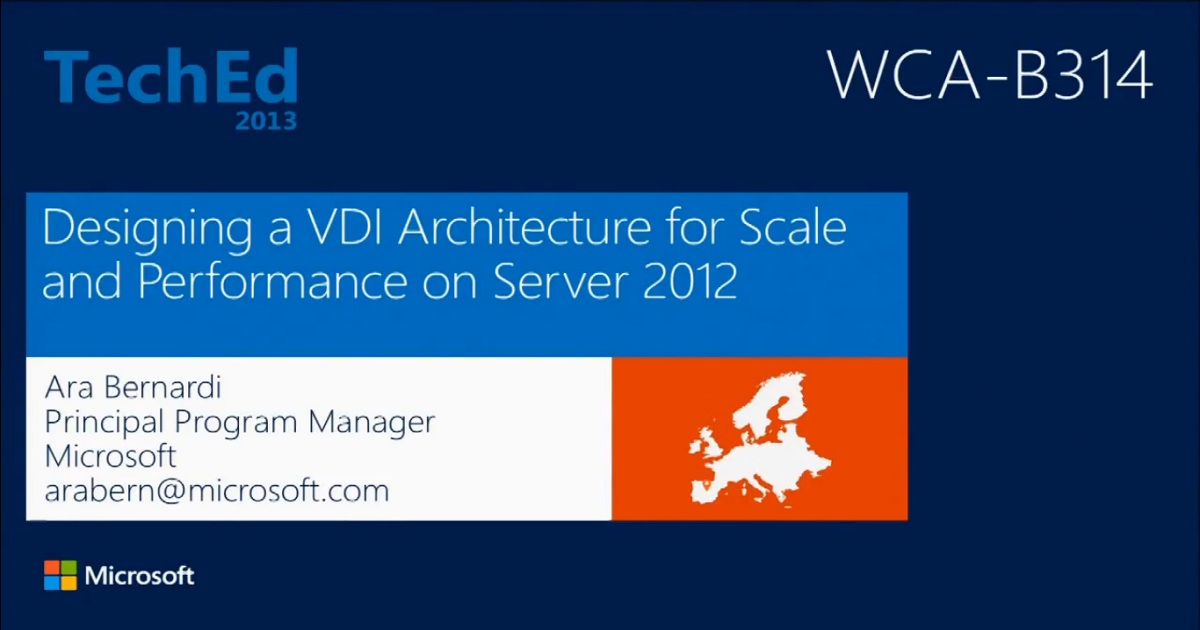 Designing a Virtual Desktop Infrastructure Architecture for Scale and Performance on Window Server 2