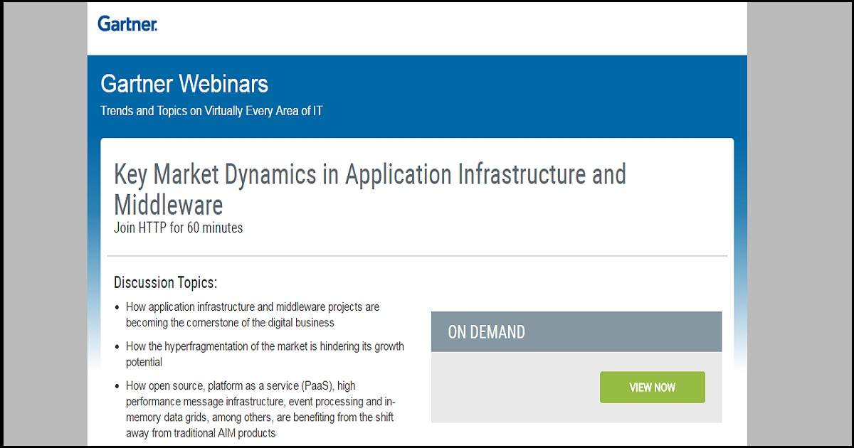 Key Market Dynamics in Application Infrastructure and Middleware