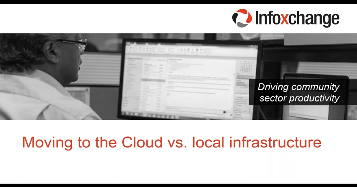 Moving to the Cloud vs. local infrastructure