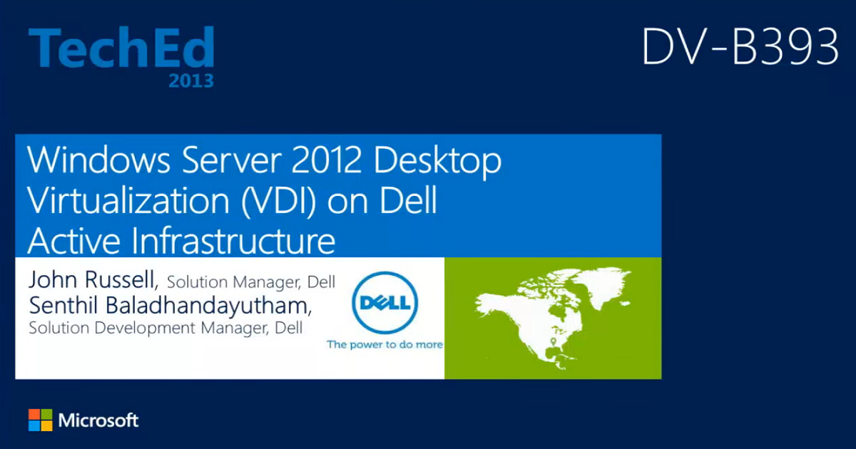 Windows Server 2012 Desktop Virtualization (VDI) on Dell Active Infrastructure
