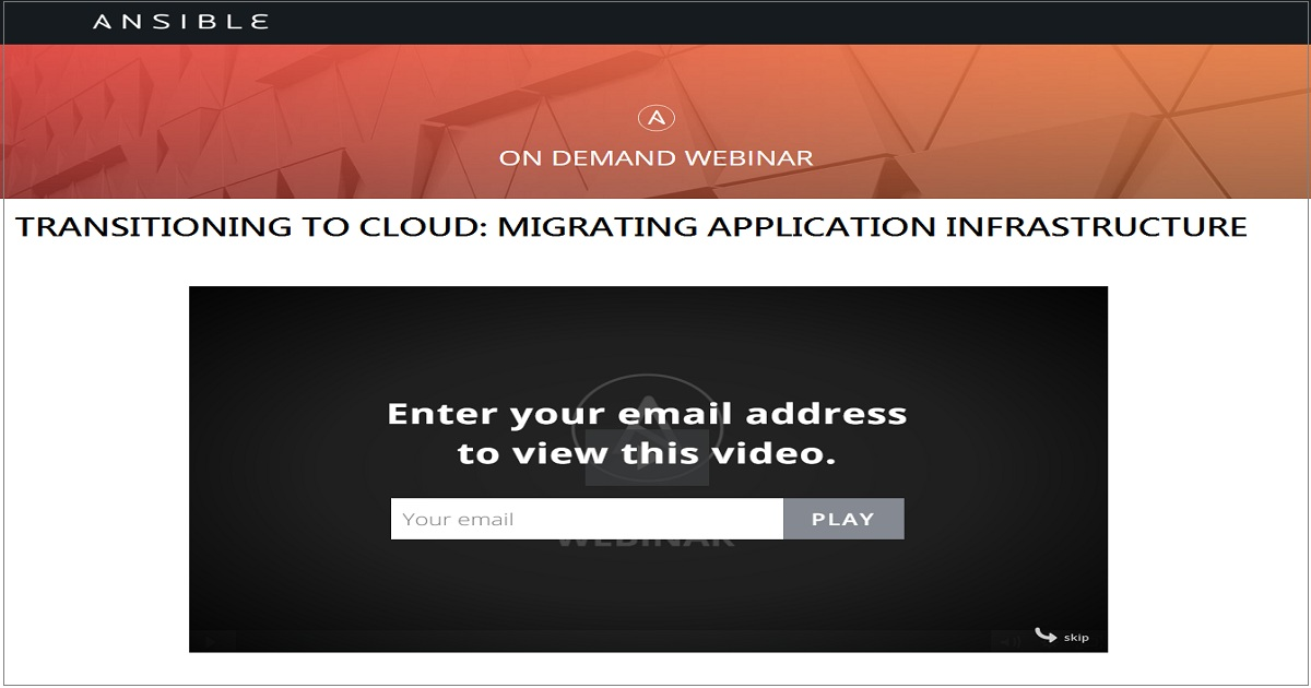 TRANSITIONING TO CLOUD: MIGRATING APPLICATION INFRASTRUCTURE