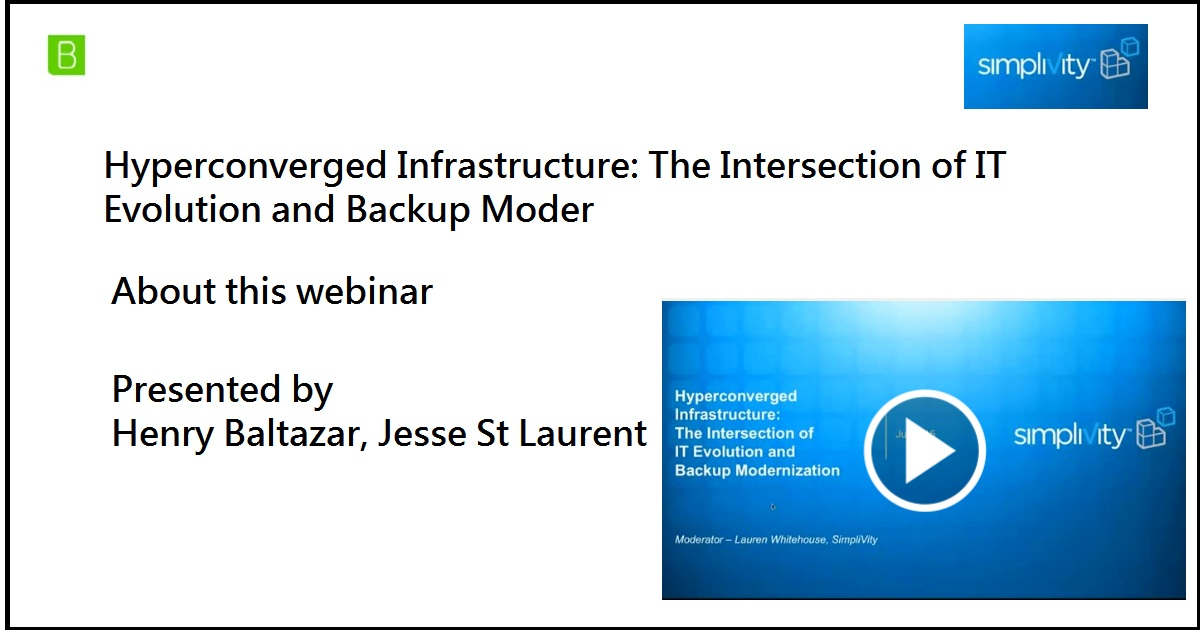 Hyperconverged Infrastructure: The Intersection of IT Evolution and Backup Moder