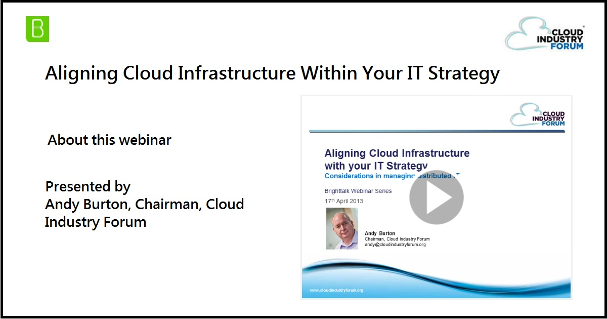 Aligning Cloud Infrastructure Within Your IT Strategy