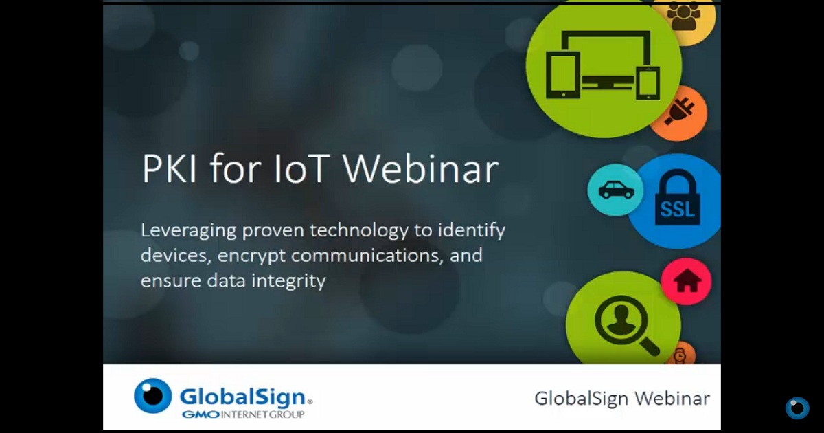 Public Key Infrastructure for the Internet of Things | Webinar