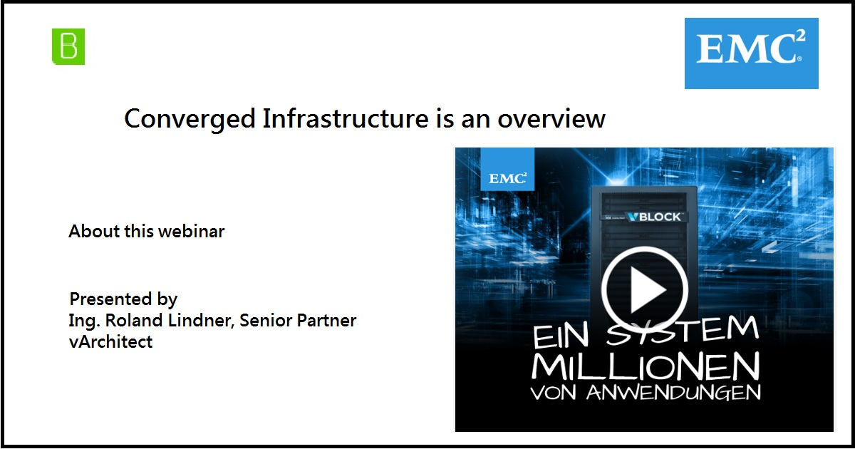 Converged Infrastructure is an overview