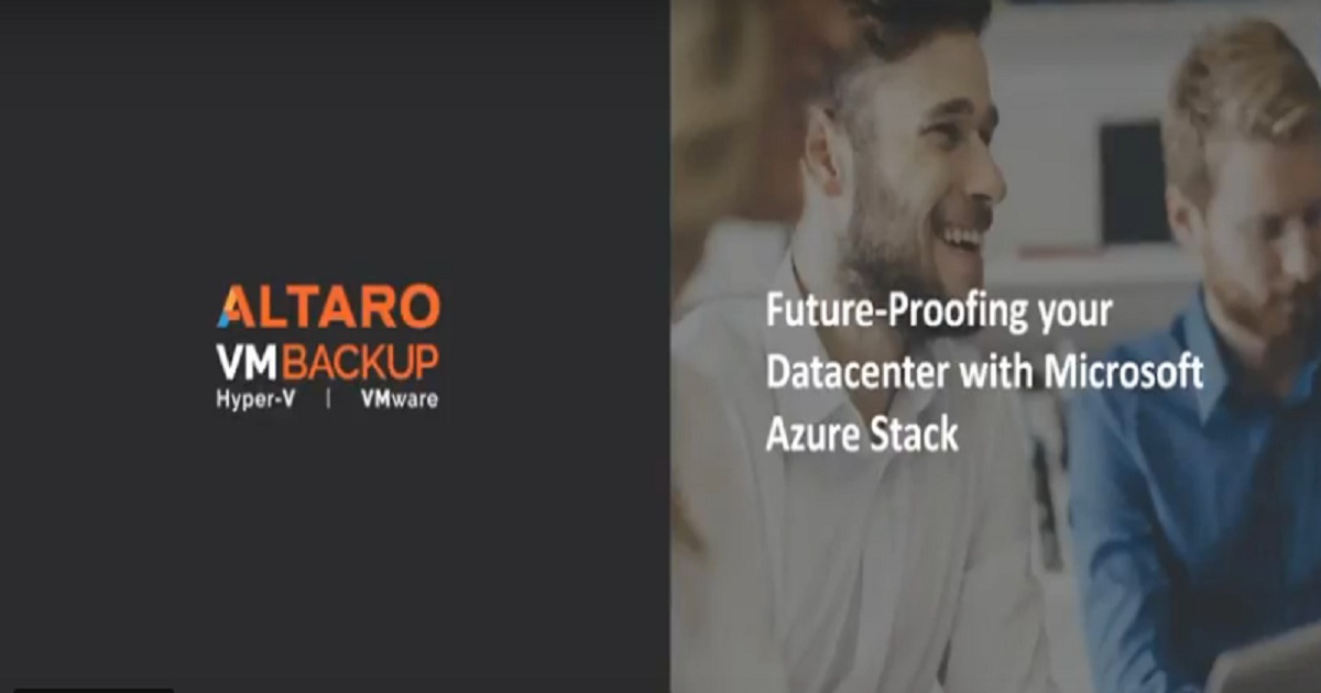 Future-proofing your datacenter with Microsoft Azure Stack