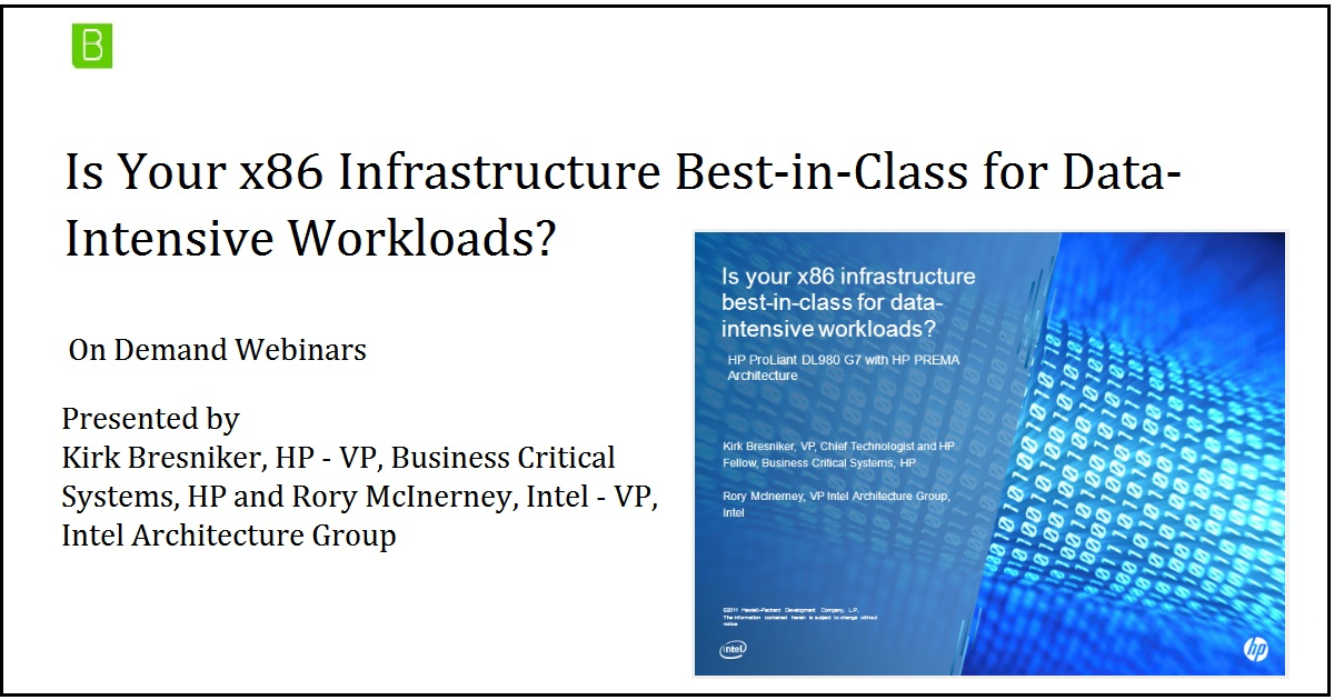 Is Your x86 Infrastructure Best-in-Class for Data-Intensive Workloads?
