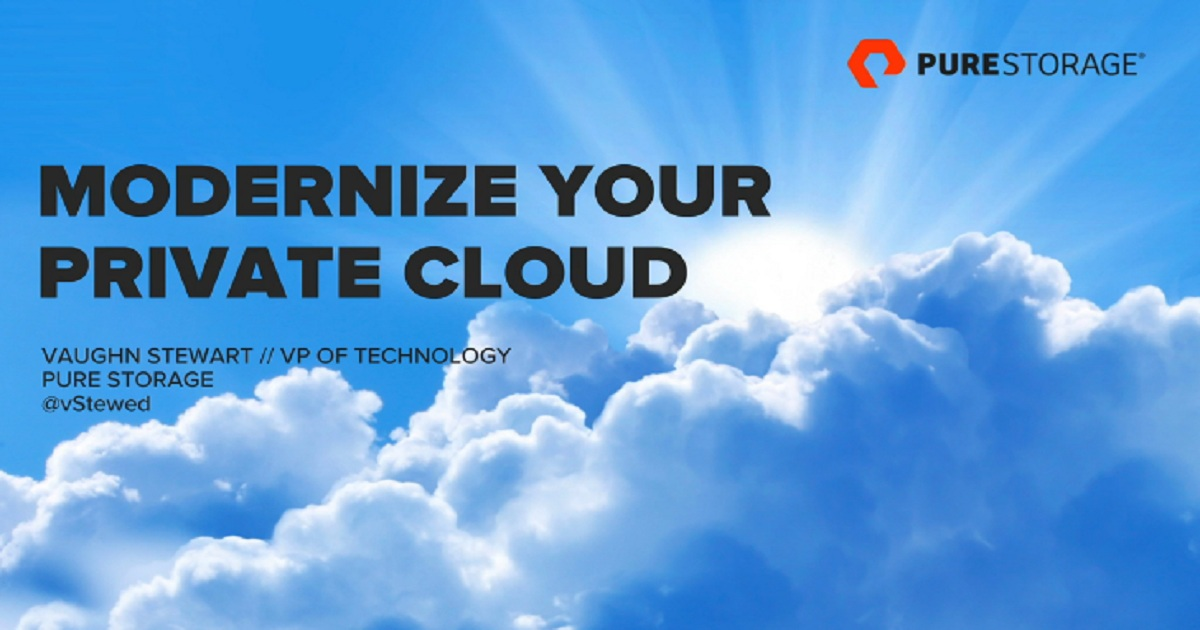 How to Modernize your Private Cloud