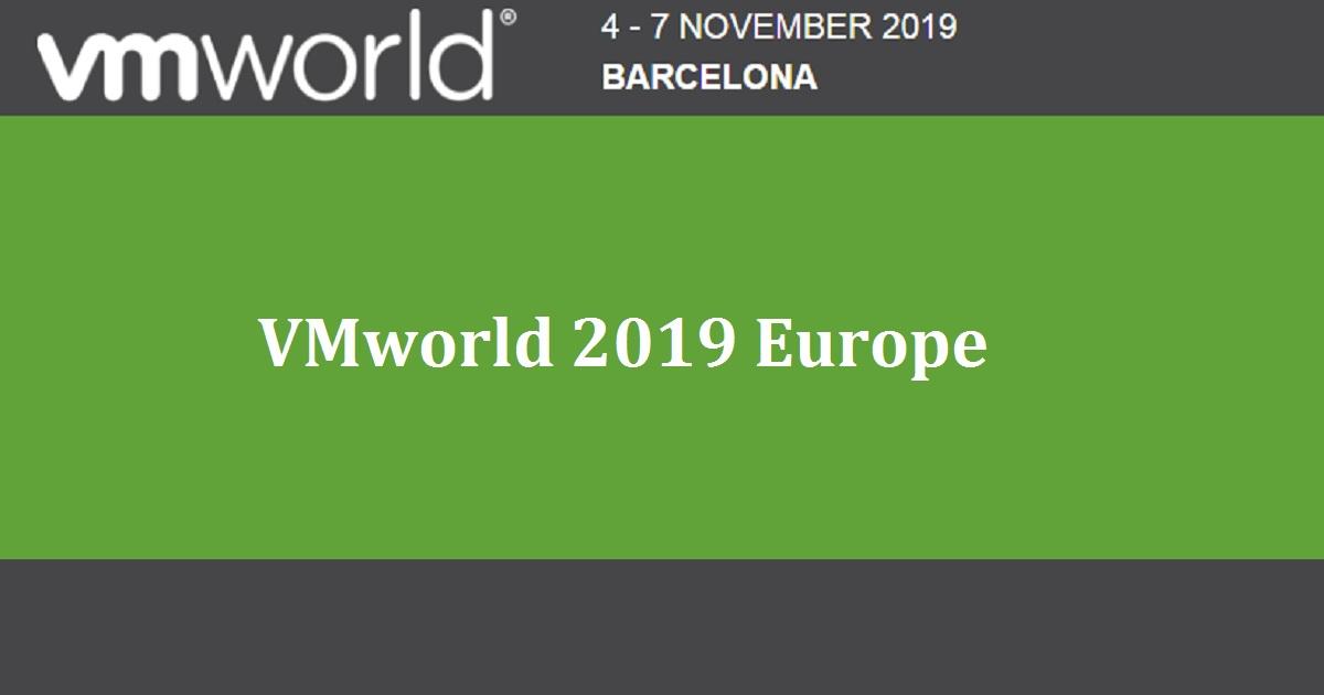 VMworld 2019 Europe