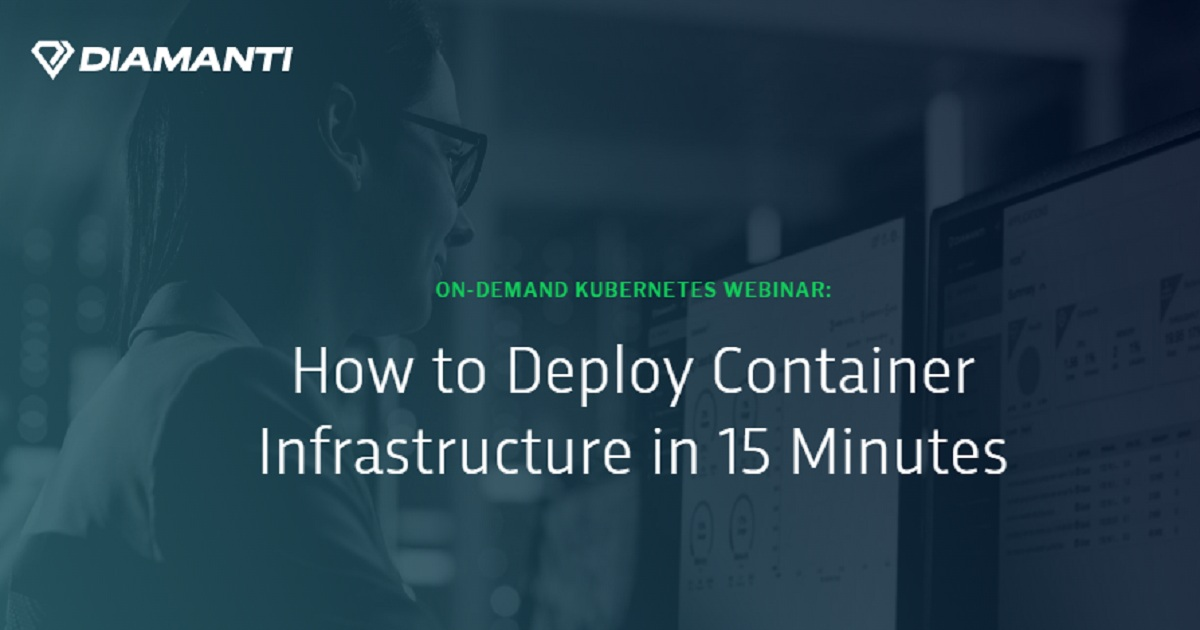 How to Deploy Container Infrastructure in 15 Minutes