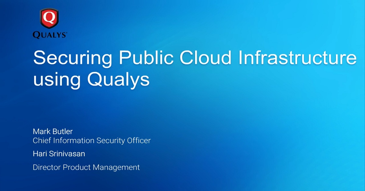 Securing Your Public Cloud Infrastructure