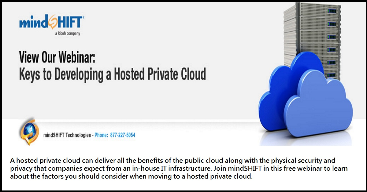 Keys To Developing a Hosted Private Cloud