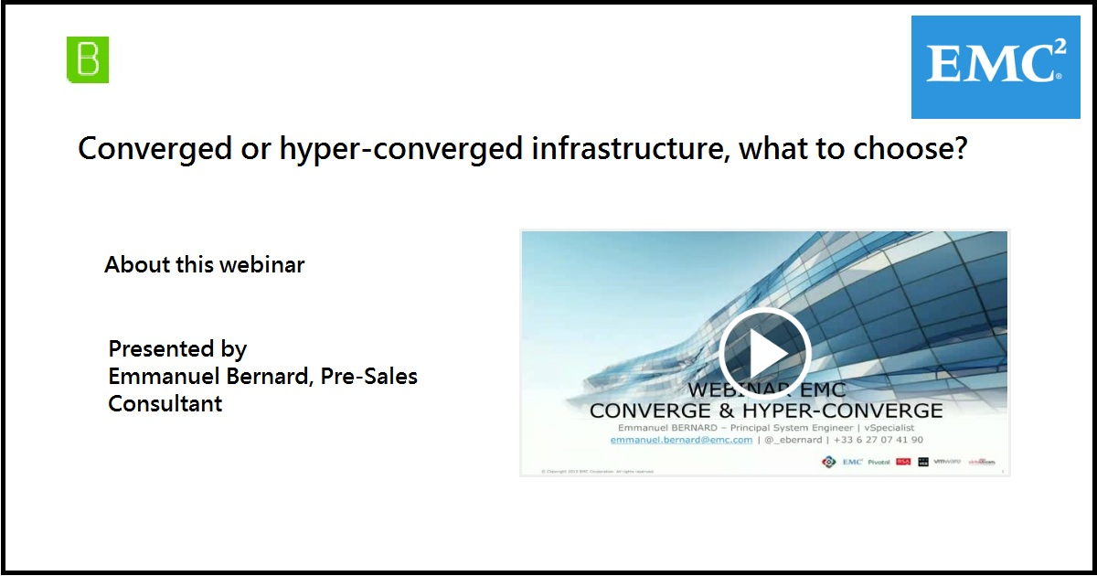 Converged or hyper-converged infrastructure, what to choose?