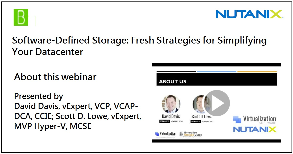 Software-Defined Storage: Fresh Strategies for Simplifying Your Datacenter