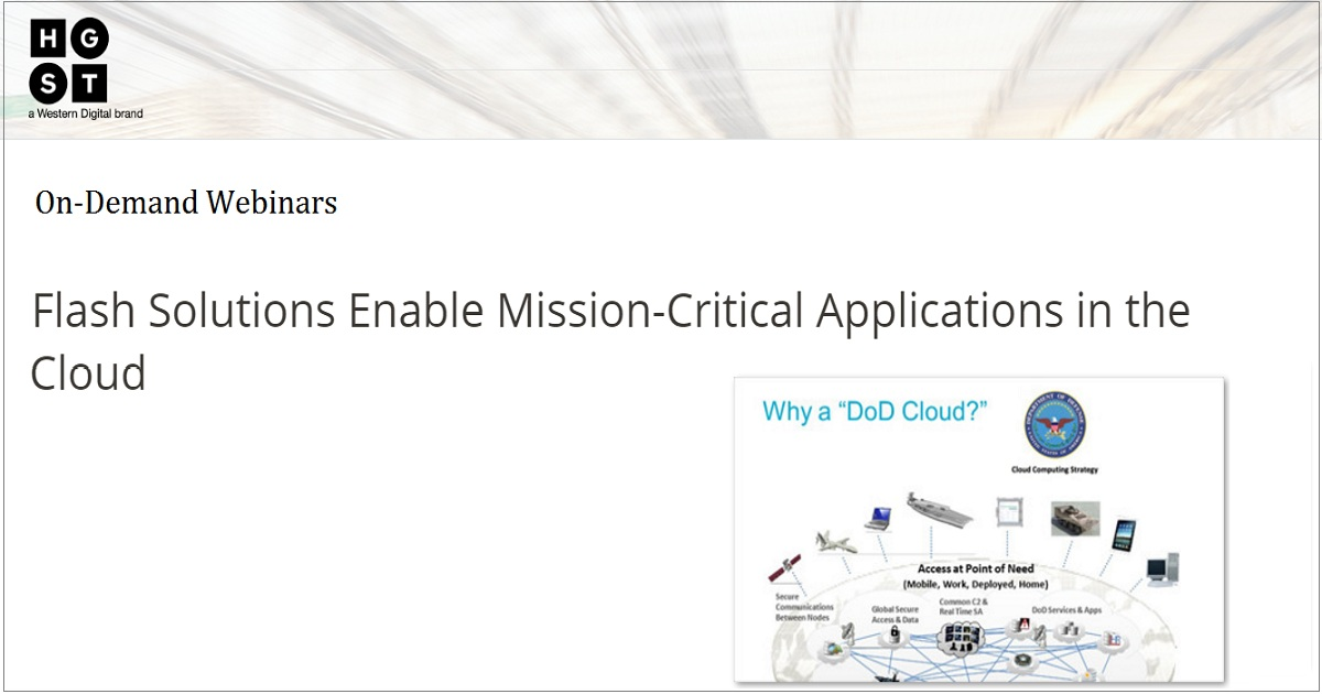 Flash Solutions Enable Mission-Critical Applications in the Cloud