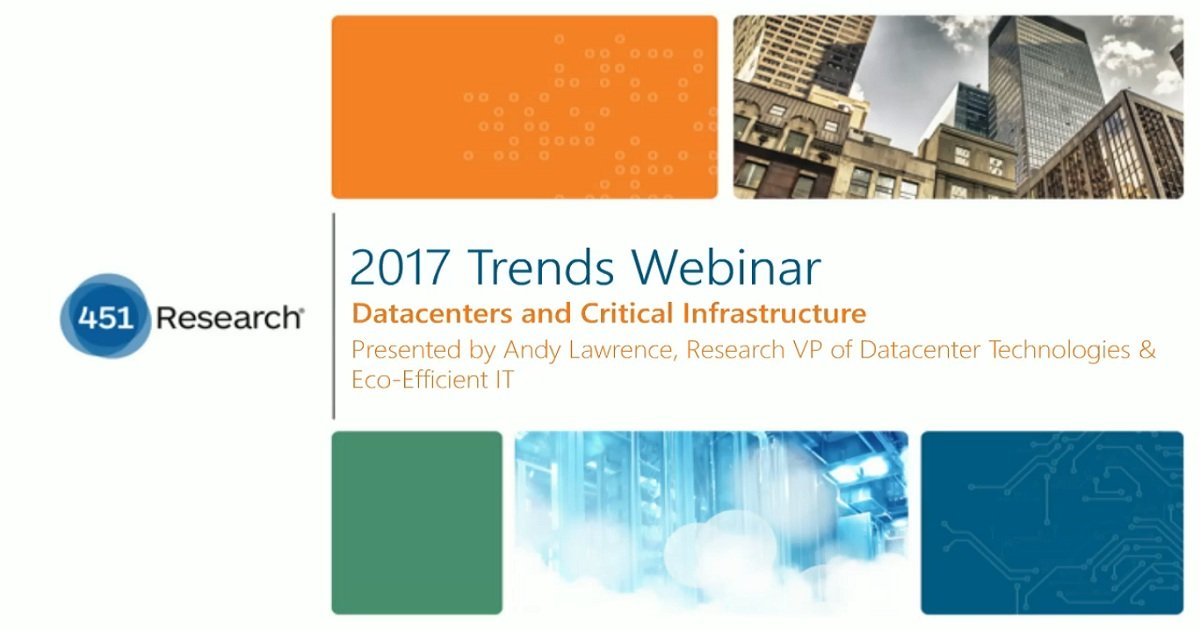 2017 Trends in Datacenters.