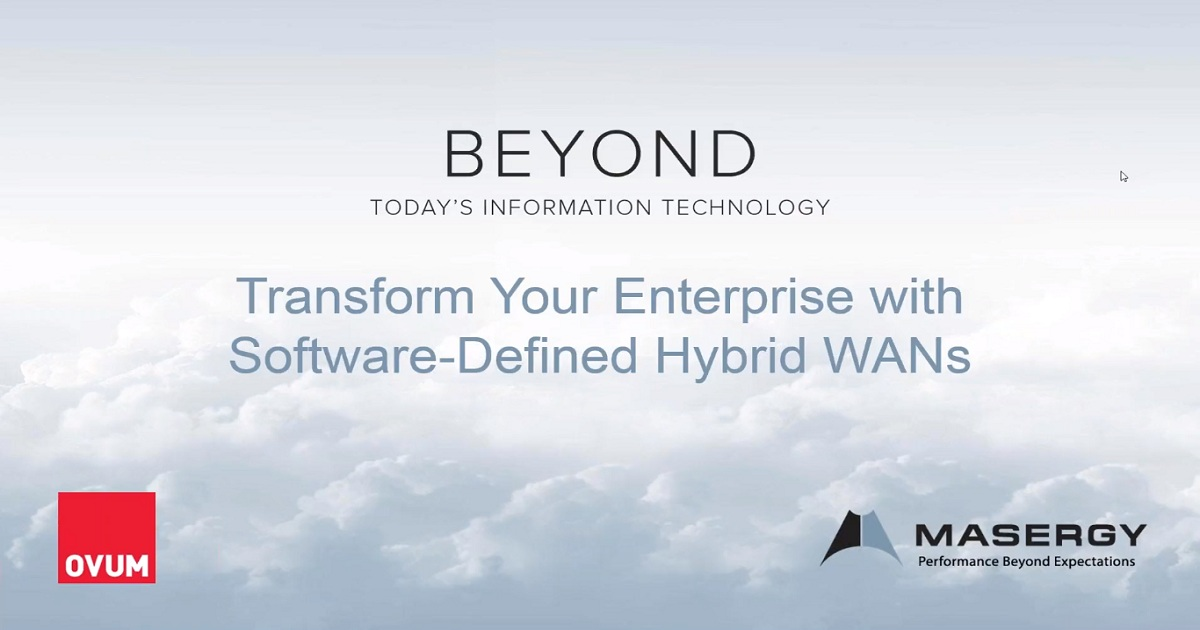 Transform Your Enterprise With Software-Defined Hybrid WANs