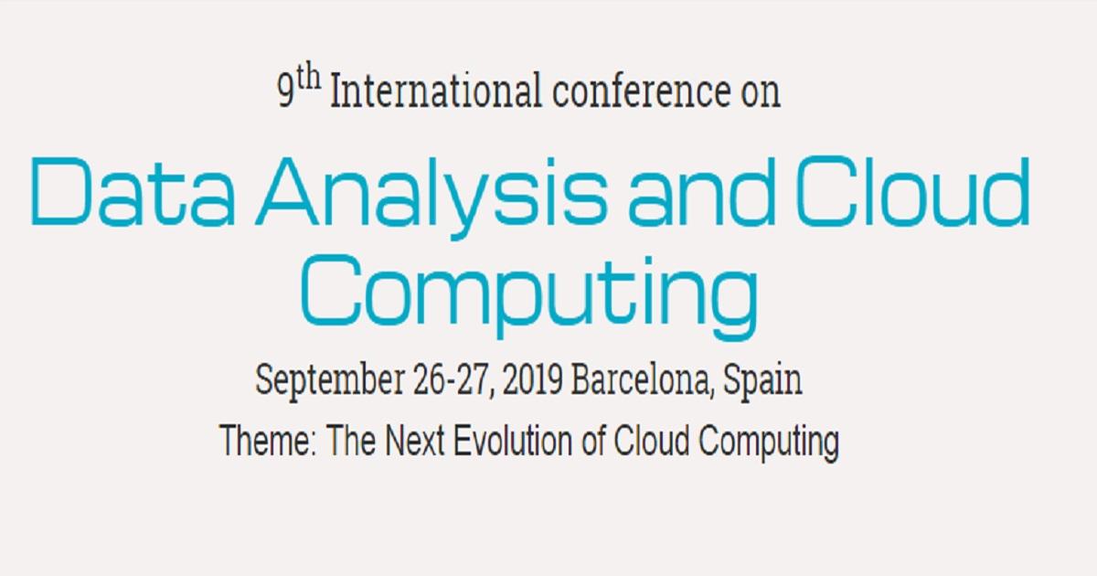 Data Analysis and Cloud Computing