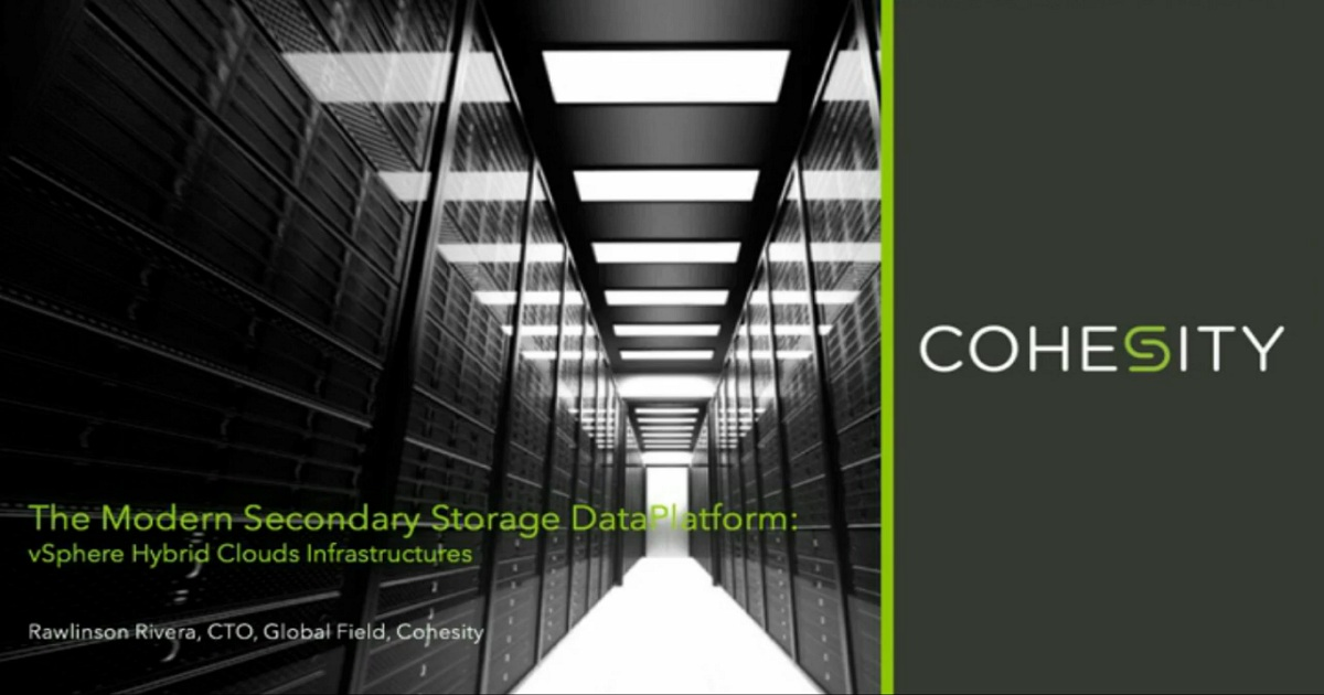 The Modern DataPlatform for vSphere Hybrid Cloud Infrastructures