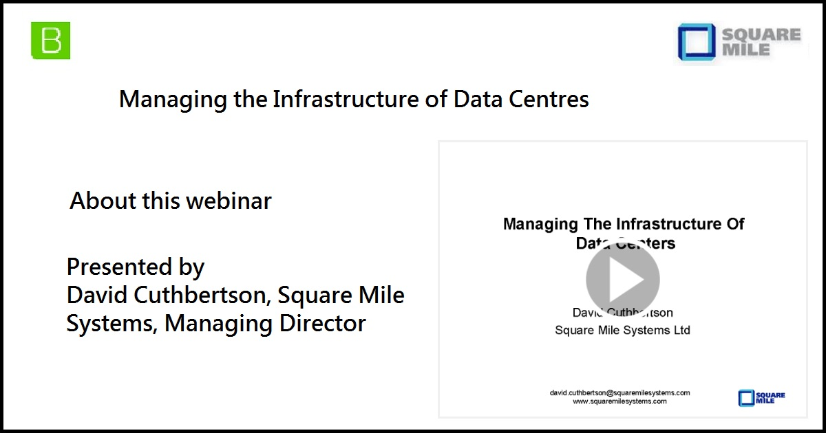 Managing the Infrastructure of Data Centres