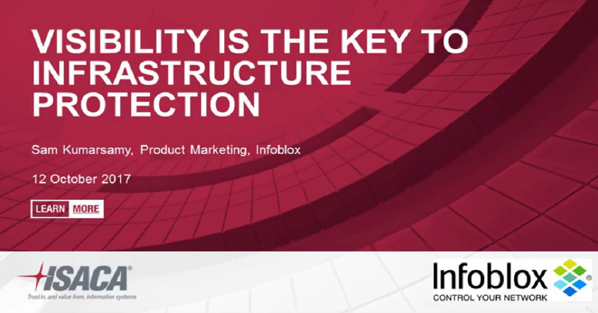 ISACA-Visibility is the Key to Infrastructure Protection