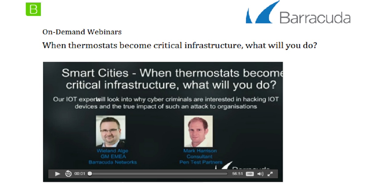 When thermostats become critical infrastructure, what will you do?