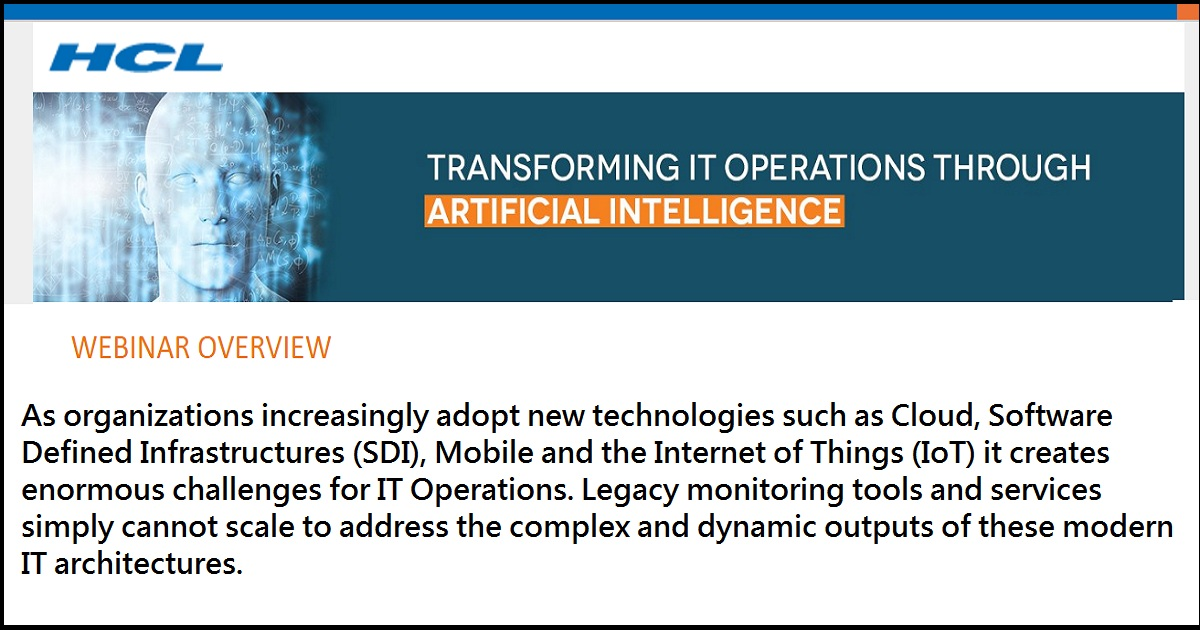 Transforming IT Operations through Artificial Intelligence