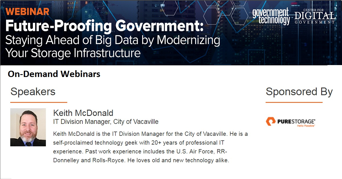 Future-Proofing Government: Staying Ahead of Big Data by Modernizing Your Storage Infrastructure