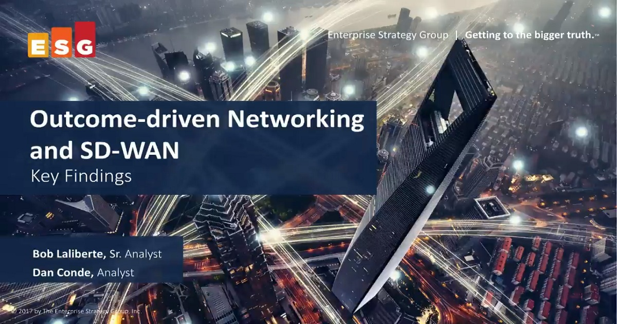What the New Network Paradigm Will Be: Outcome-Driven Networking and SD-WAN