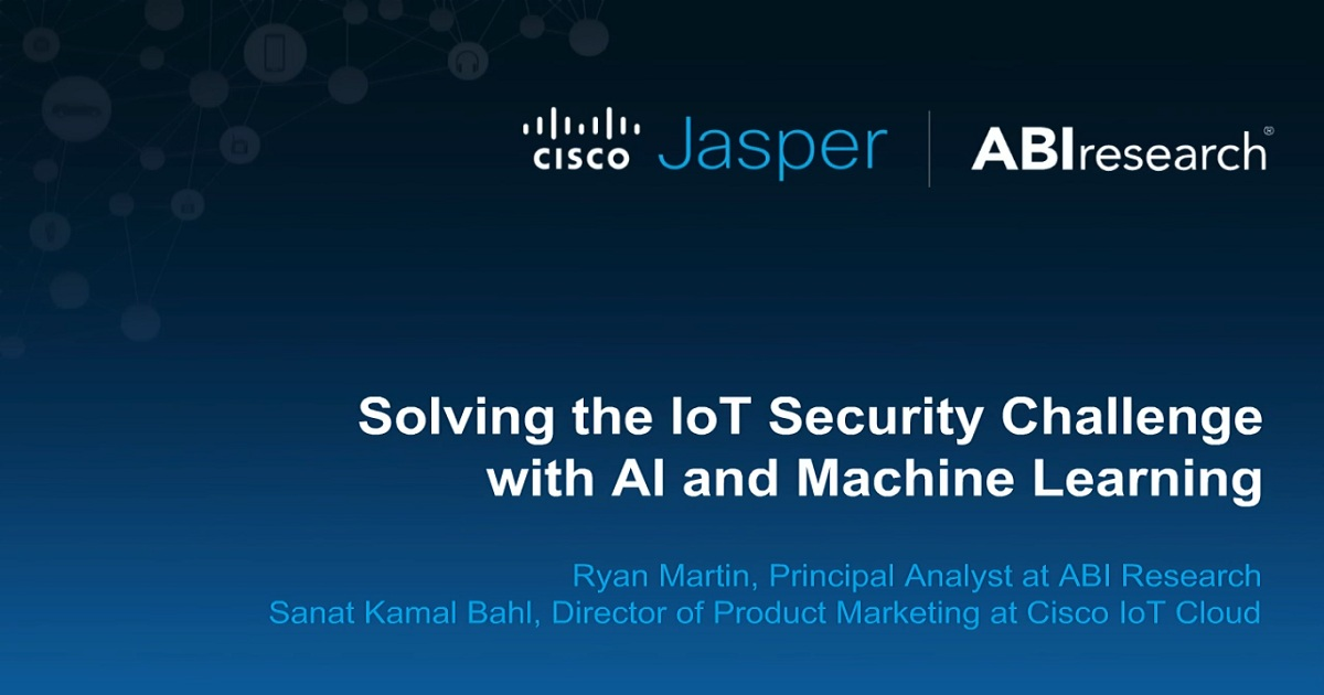 Solving the IoT Security Challenge with AI and Machine Learning