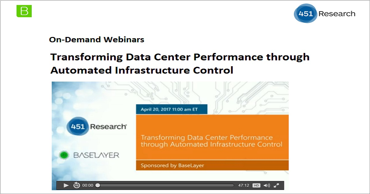 Transforming Data Center Performance through Automated Infrastructure Control
