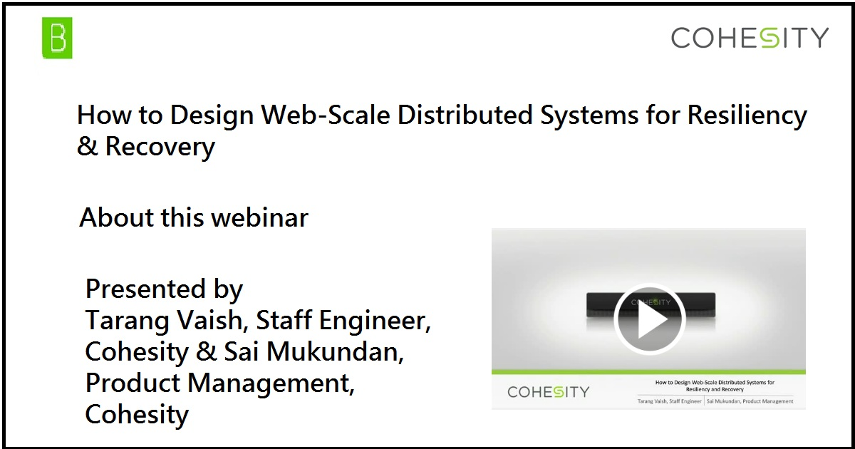 How to Design Web-Scale Distributed Systems for Resiliency & Recovery