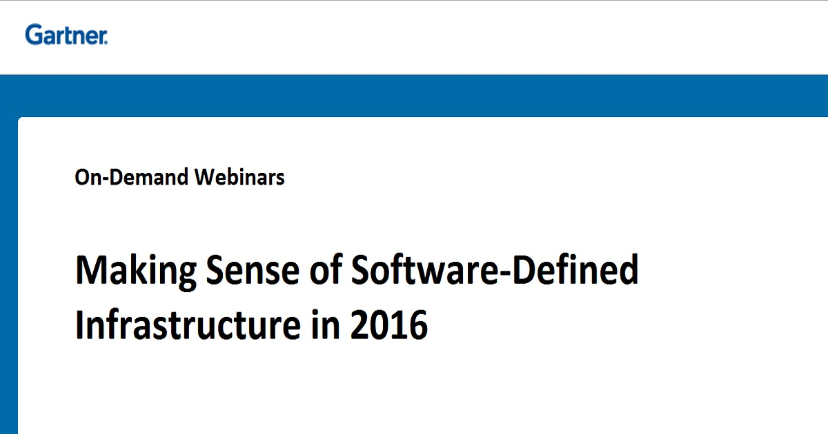 Making Sense of Software-Defined Infrastructure in 2016