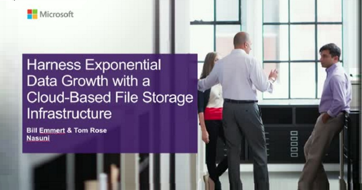 Harness Exponential Data Growth with a Cloud-Based File Storage Infrastructure