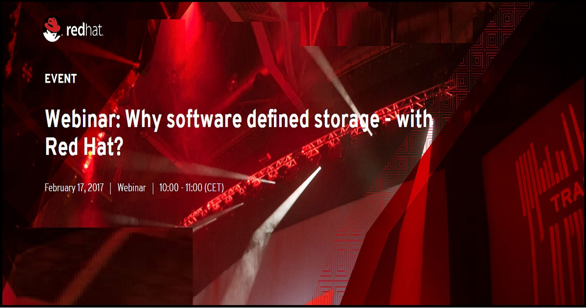 Webinar: Why software defined storage - with Red Hat?