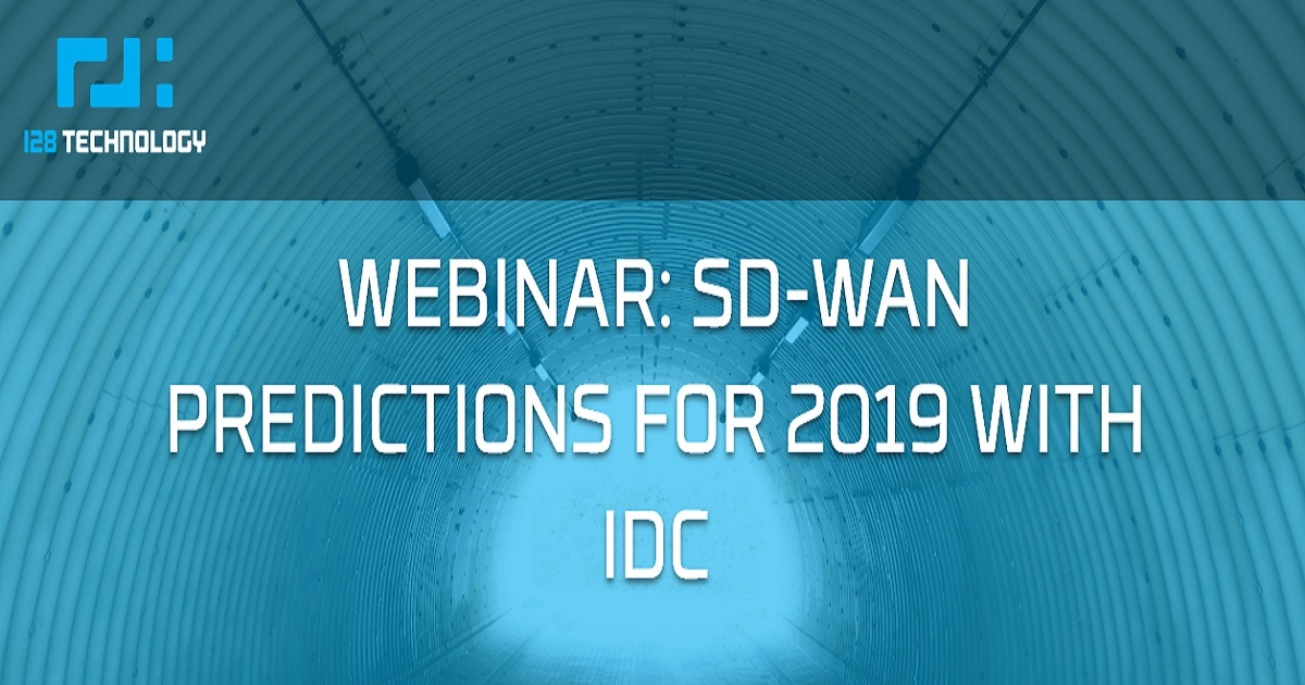 SD-WAN PREDICTIONS FOR 2019 WITH IDC