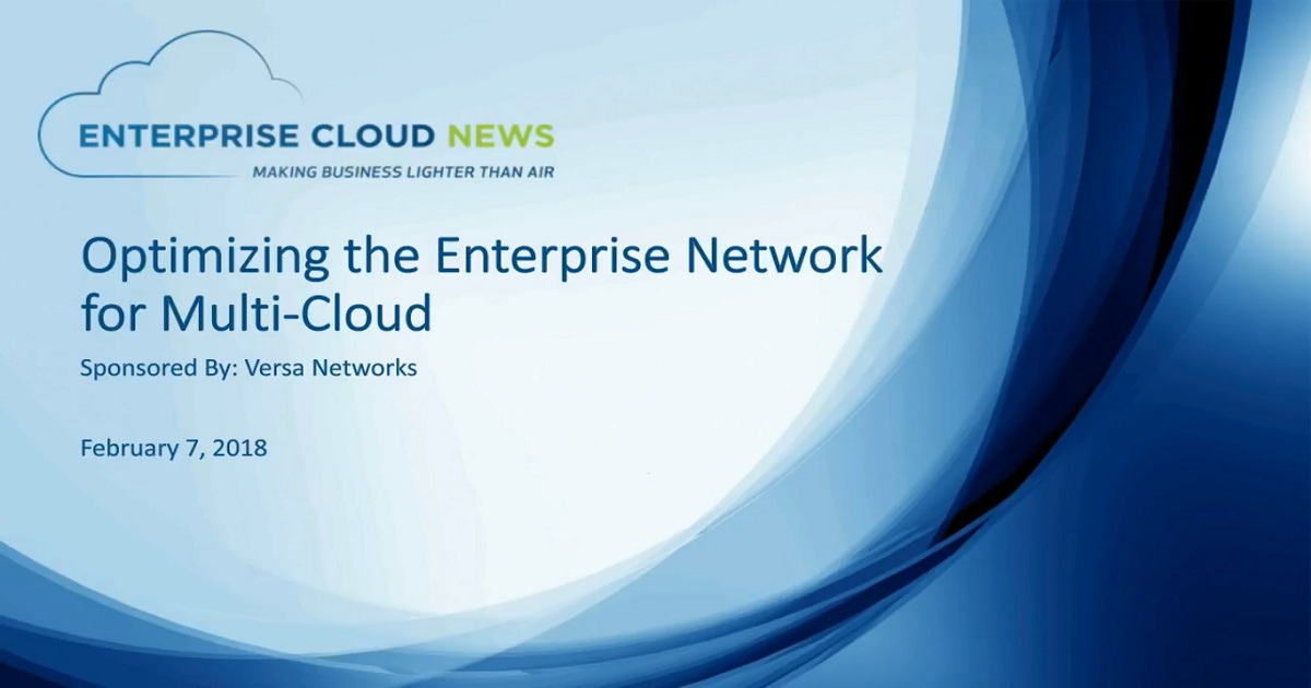 Optimize the Enterprise Network for Multi-Cloud