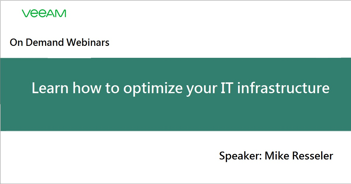 Learn how to optimize your IT infrastructure