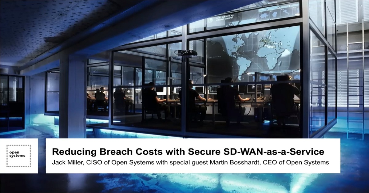 Reducing the Cost of a Breach with SD-WAN