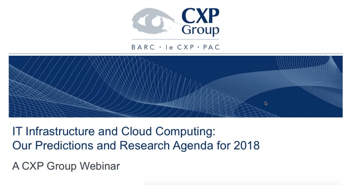 IT Infrastructure and Cloud Computing: Our Predictions and Research Agenda for 2018