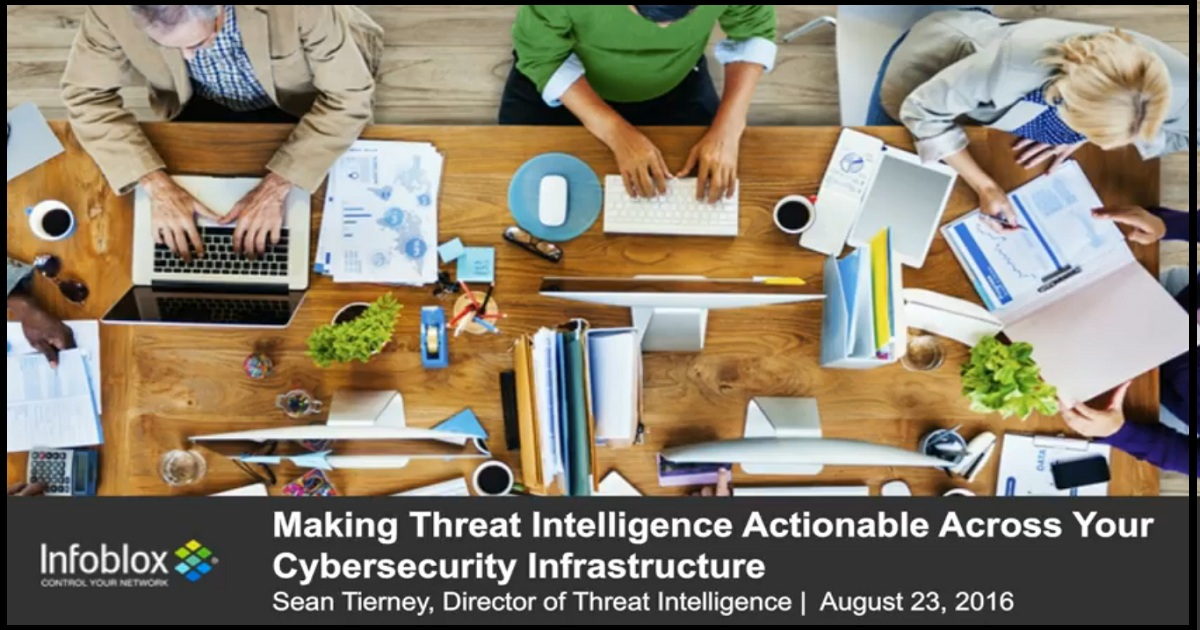 Making Threat Intelligence Actionable across Your Cybersecurity Infrastructure