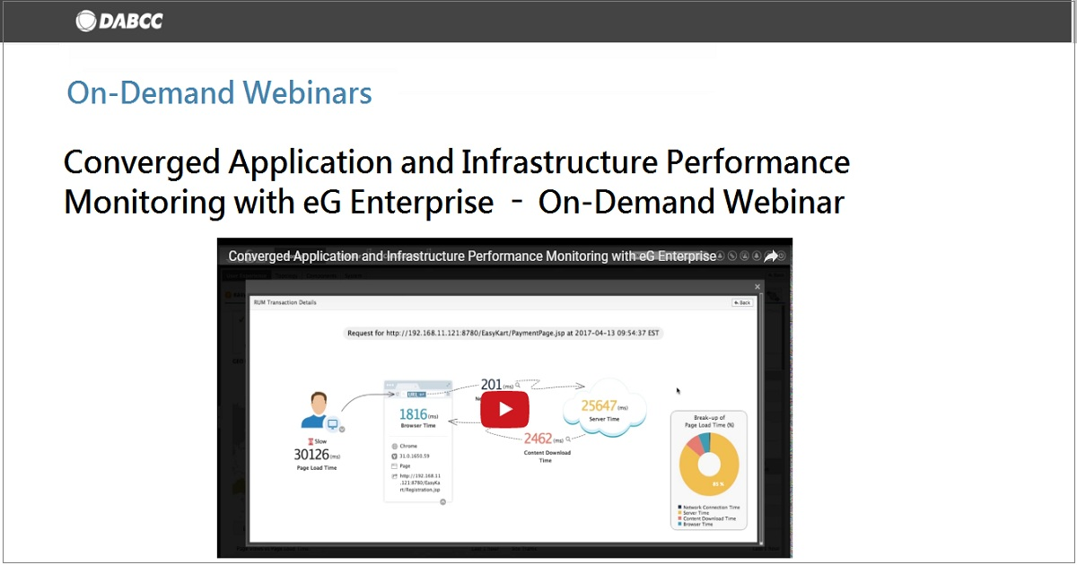 Converged Application and Infrastructure Performance Monitoring with eG Enterprise
