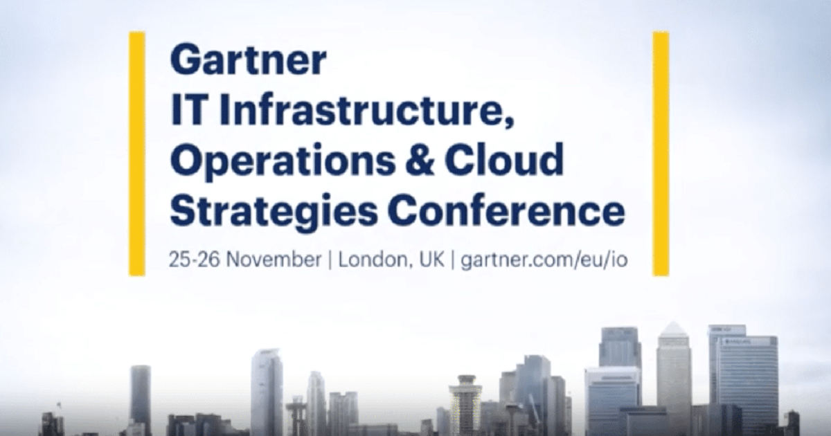 Gartner IT Infrastructure, Operations & Cloud Strategies
