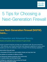 5 TIPS FOR CHOOSING A NEXT-GENERATION FIREWALL