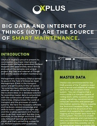 BIG DATA AND INTERNET OF THINGS (IOT) ARE THE SOURCE OF SMART MAINTENANCE.