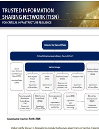 TRUSTED INFORMATION SHARING NETWORK (TISN) FOR CRITICAL INFRASTRUCTURE RESILIENCE
