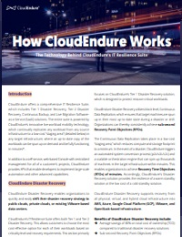 HOW CLOUDENDURE WORKS: THE TECHNOLOGY BEHIND CLOUDENDURE'S IT RESILIENCE SUITE