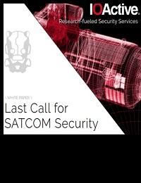 LAST CALL FOR SATCOM SECURITY
